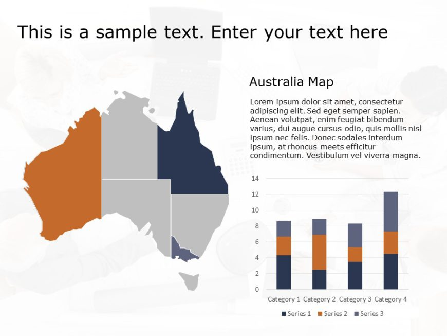 Australia Map PowerPoint Template 4
