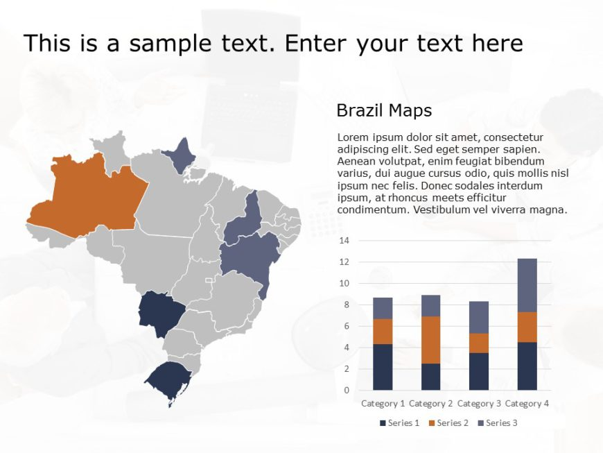 Brazil Map PowerPoint Template 5
