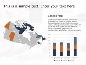 Canada Map PowerPoint Template 3