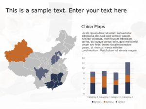 China Map PowerPoint Template 3
