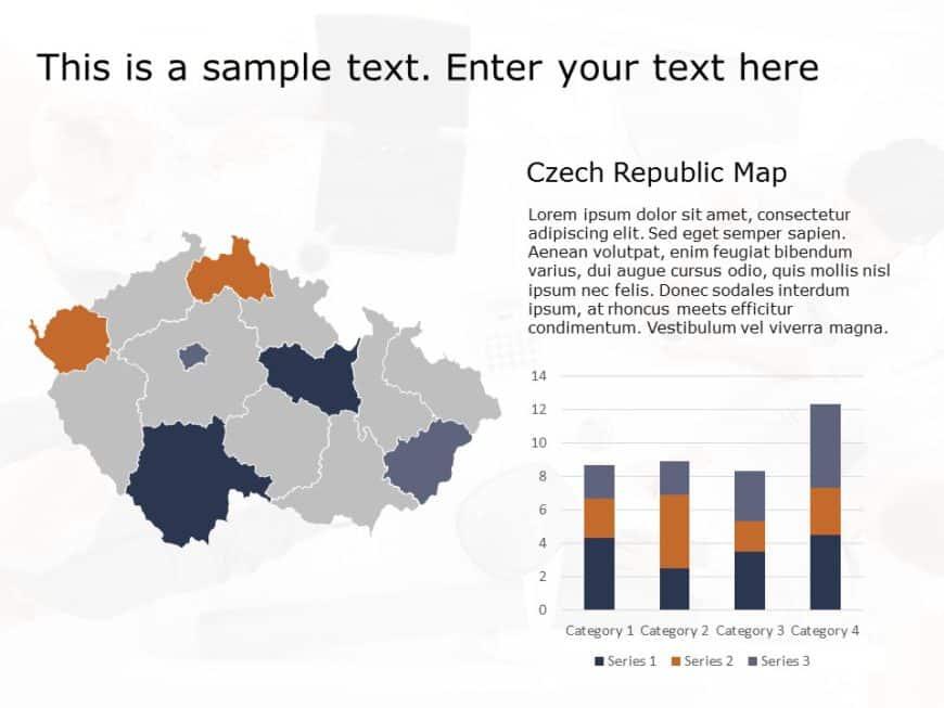 Czech Republic Map PowerPoint Template 1