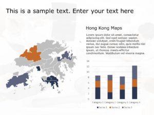 Hong Kong Map PowerPoint Template 3