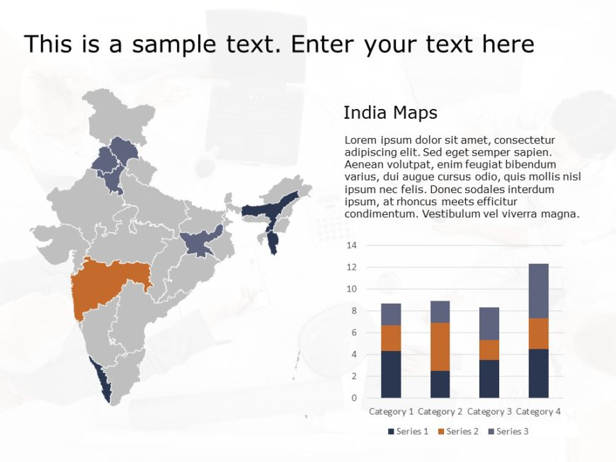 India Map Powerpoint Template 3