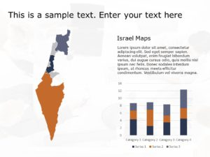 Israel Map Powerpoint Template 3
