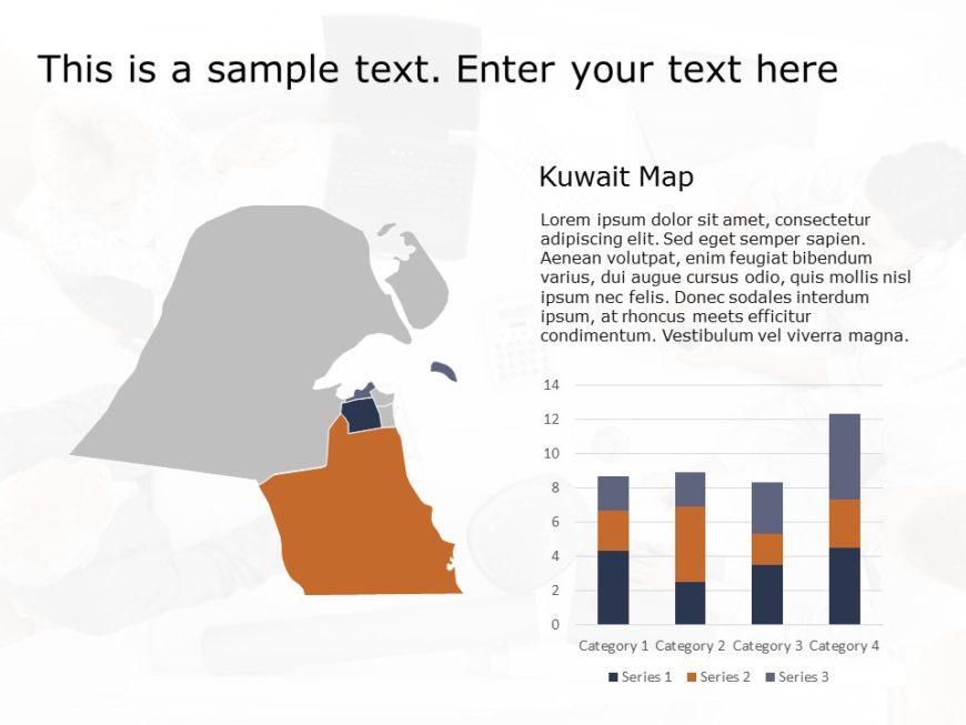 Kuwait Map PowerPoint Template 3