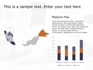Malaysia Map PowerPoint Template 1