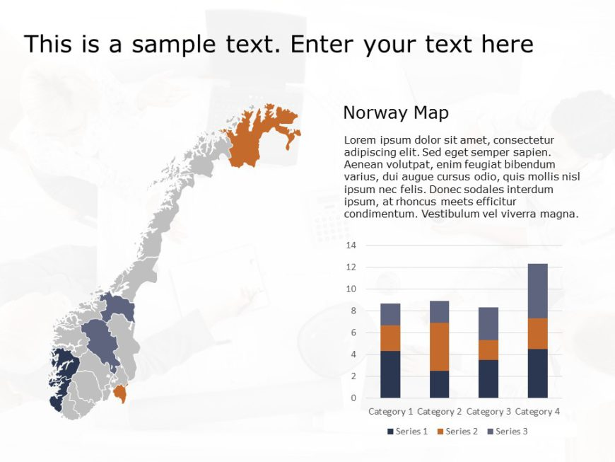 Norway Map PowerPoint Template 1