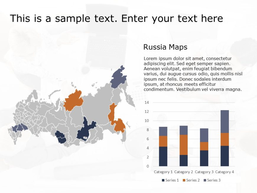 Russia Map PowerPoint Template 1