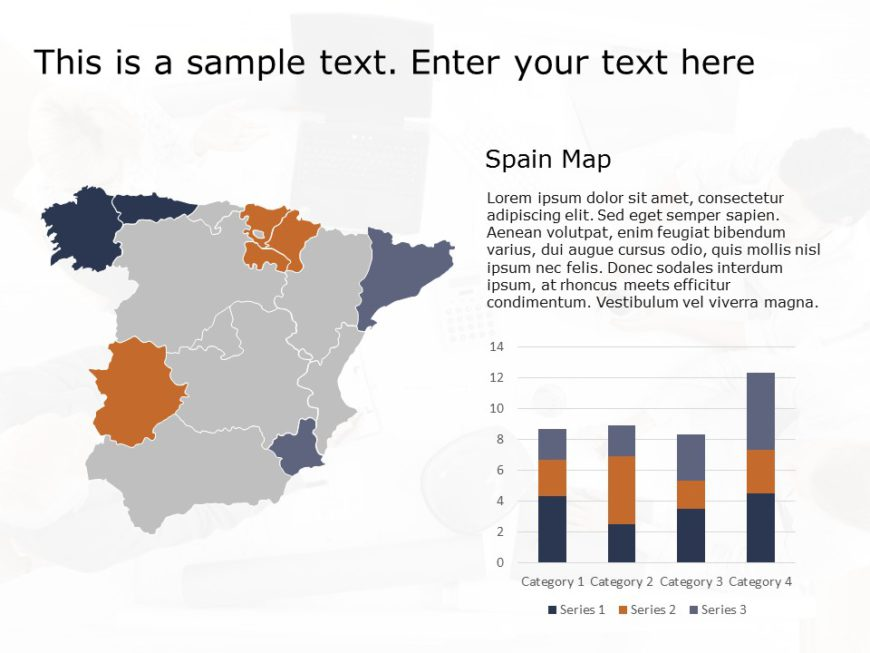 Spain Map PowerPoint Template 1