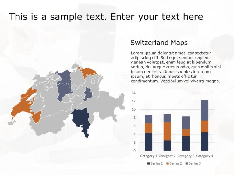 Switzerland Map PowerPoint Template 3