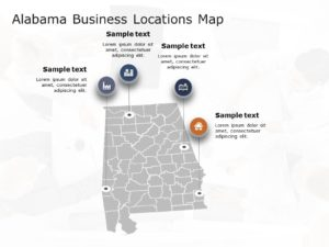 Alabama Map PowerPoint Template 5