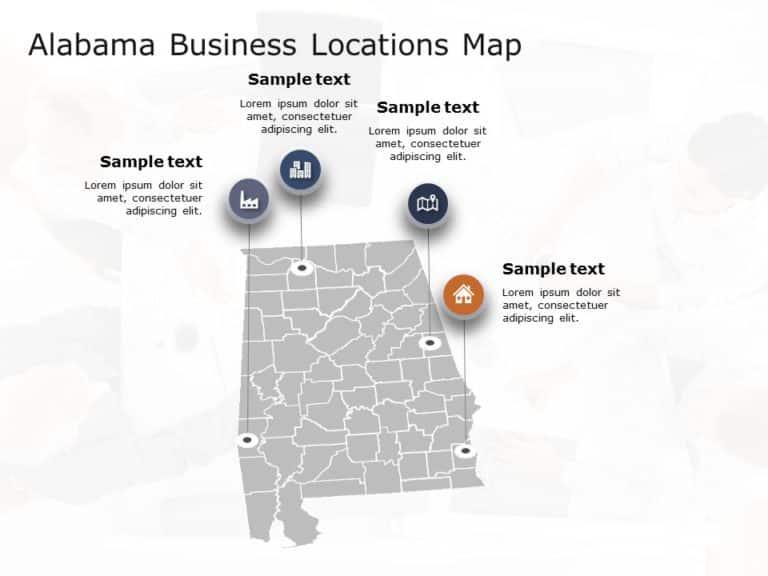 Alabama Map PowerPoint Template 5