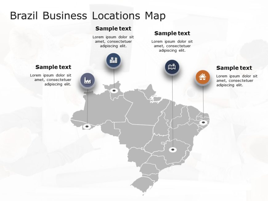 Brazil Map PowerPoint Template 4