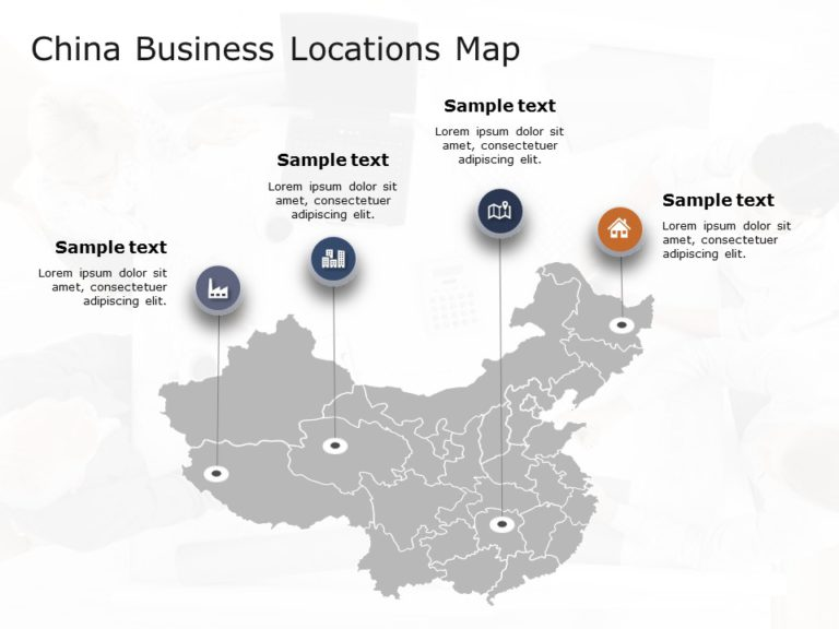China Map PowerPoint Template 1
