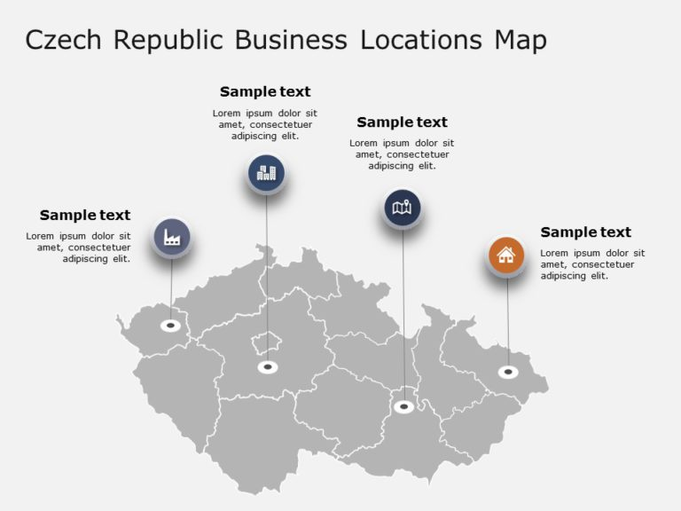 Czech Republic Map PowerPoint Template