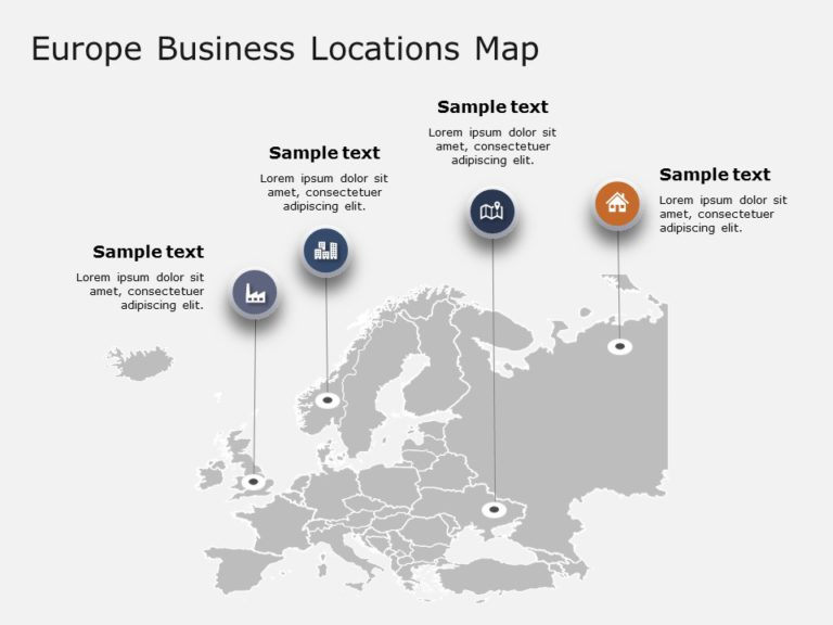 Europe Map PowerPoint Template 6
