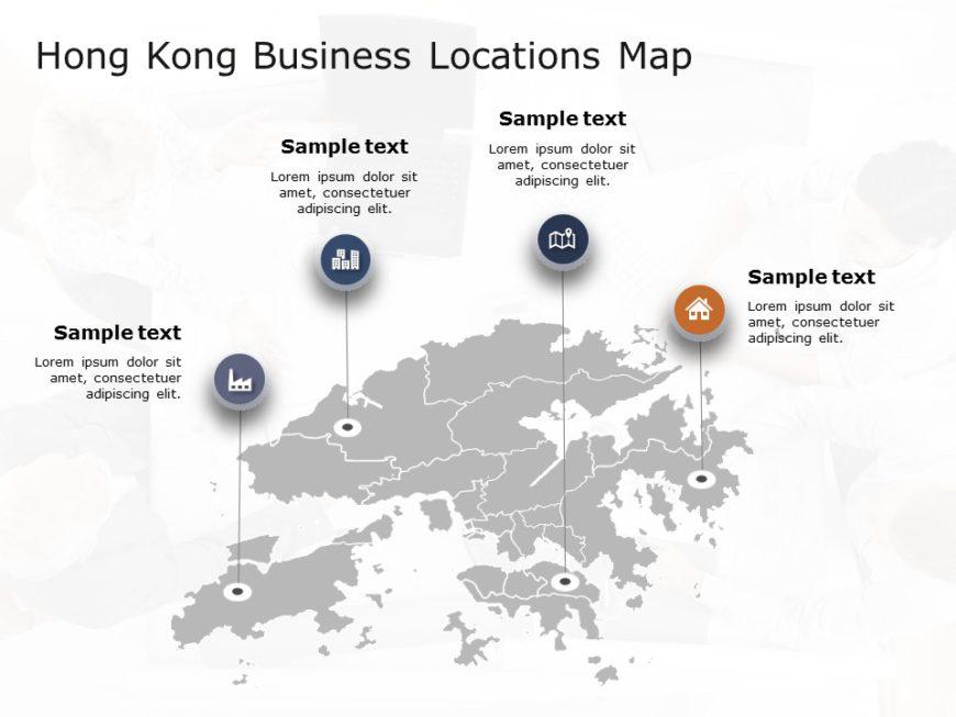Hong Kong Map PowerPoint Template 2