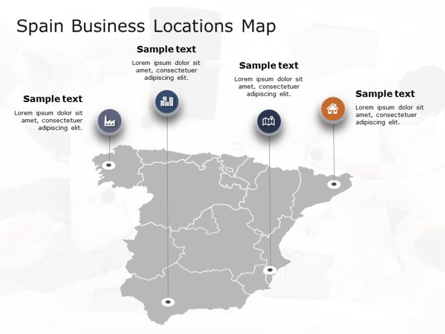 Spain Map PowerPoint Template