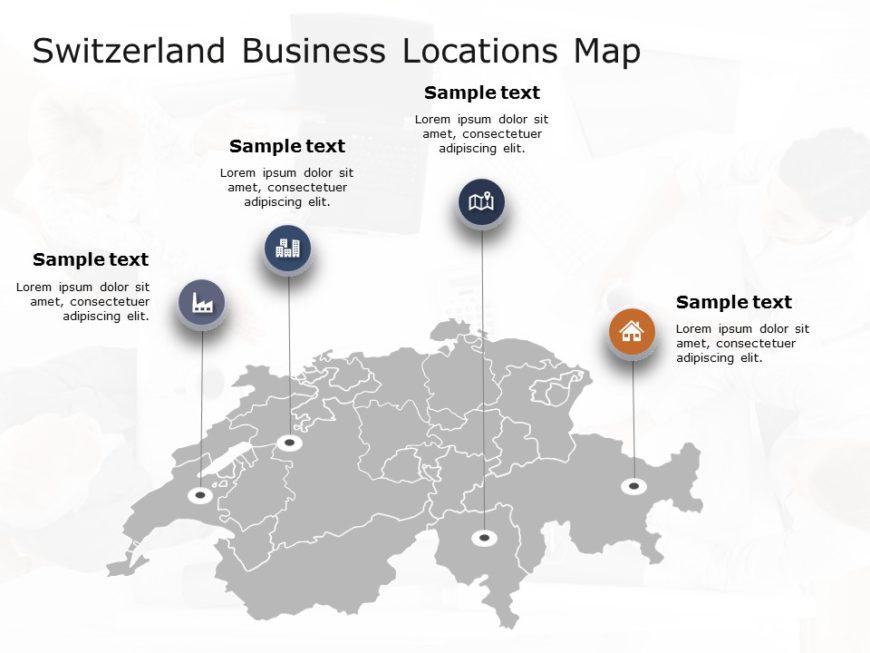 Switzerland Map PowerPoint Template