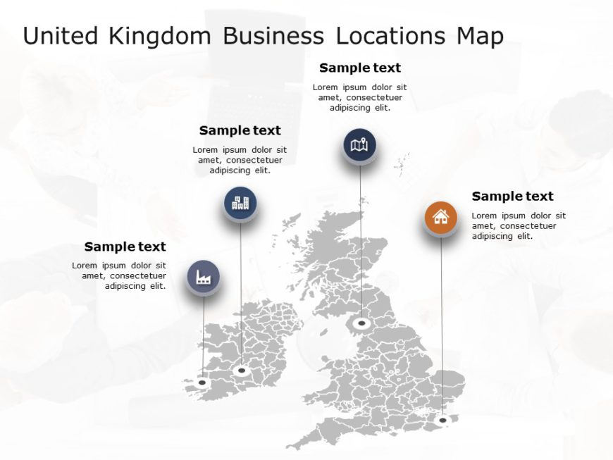 United Kingdom Map PowerPoint Template 3