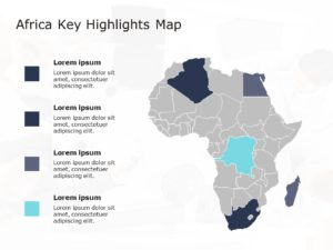 Africa Map PowerPoint Template 6