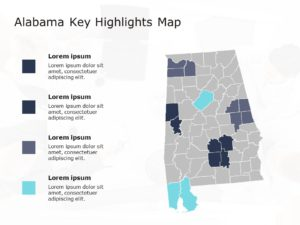 Alabama Map PowerPoint Template 3