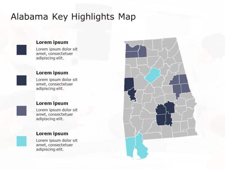 Alabama Map PowerPoint Template 3