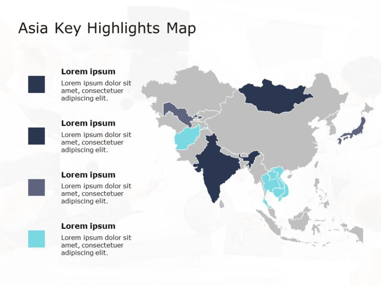 Asia Map PowerPoint Template 2