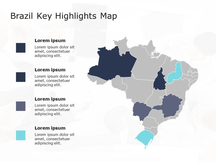 Brazil Map PowerPoint Template 6