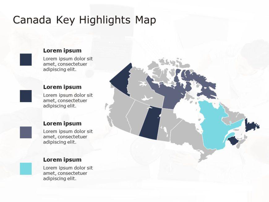 Canada Map PowerPoint Template 6