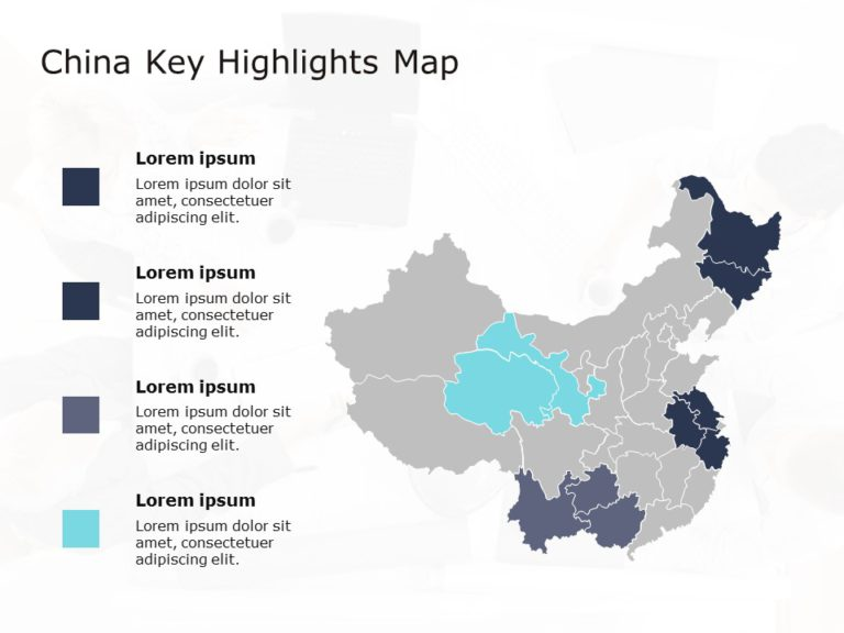 China Map PowerPoint Template 4