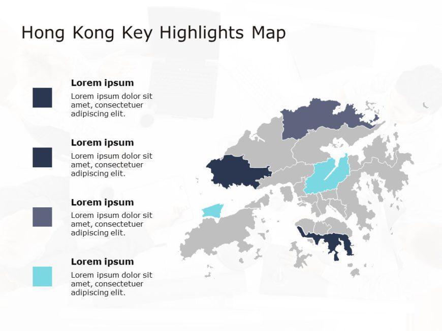 Hong Kong Map PowerPoint Template 1