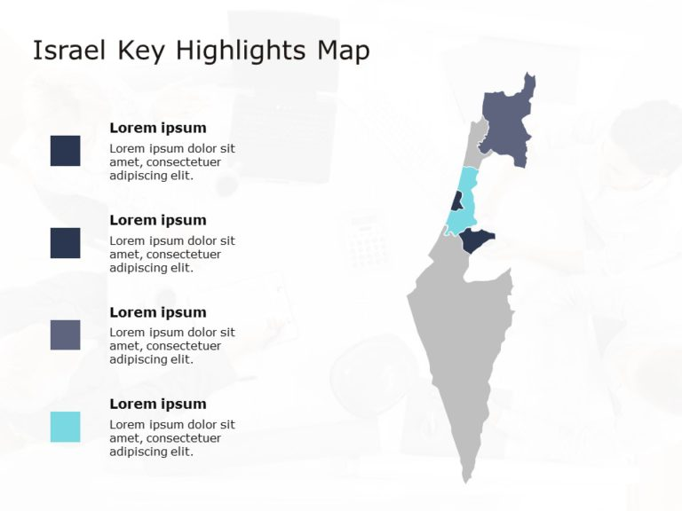 Israel Map Powerpoint Template 1