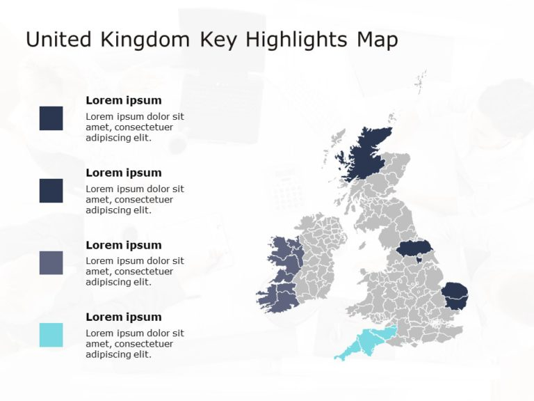 United Kingdom Map PowerPoint Template 6