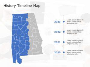 Alabama Map PowerPoint Template 7