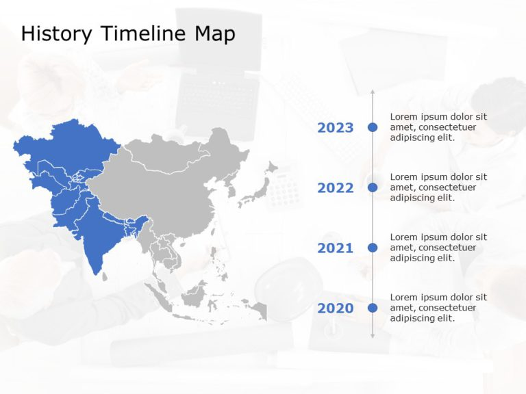 Asia Map PowerPoint Template 6