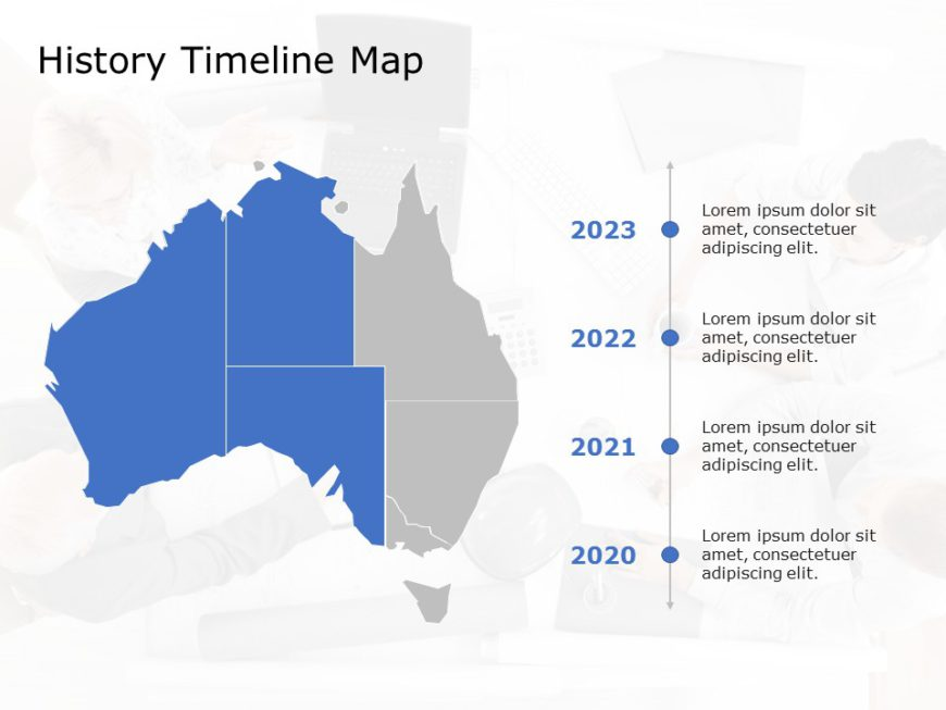 Australia Map PowerPoint Template 9