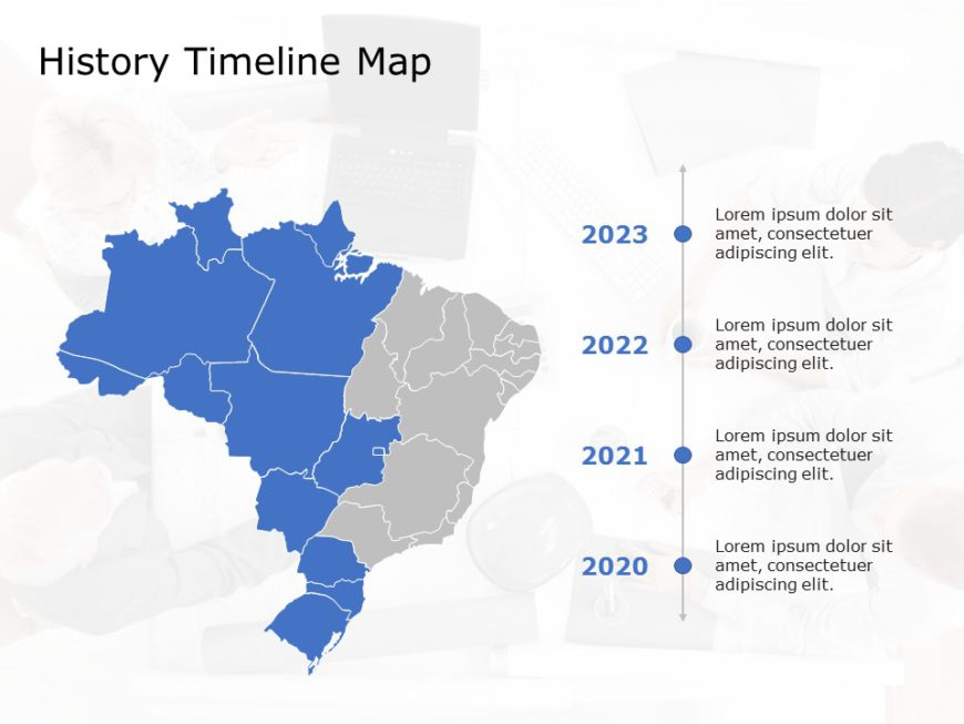 Brazil Map PowerPoint Template 3