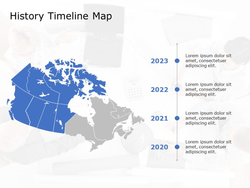 Canada Map PowerPoint Template 7