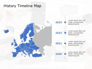 Europe Map PowerPoint Template 4