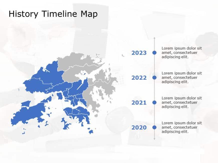 Hong Kong Map PowerPoint Template 6