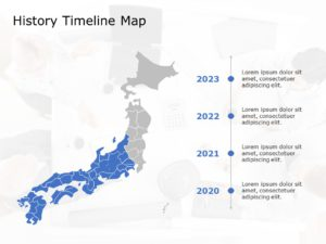 Japan Map PowerPoint Template