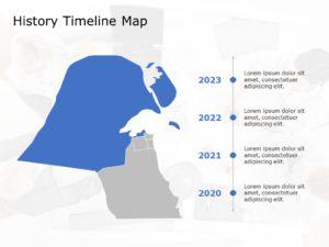 Kuwait Map PowerPoint Template 8