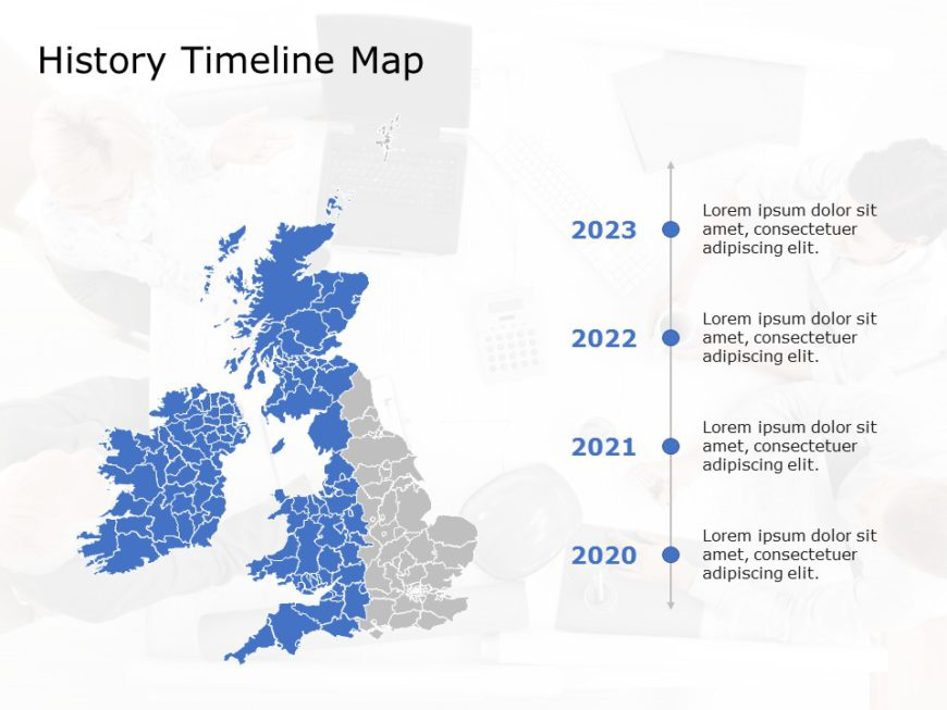 United Kingdom Map PowerPoint Template 7