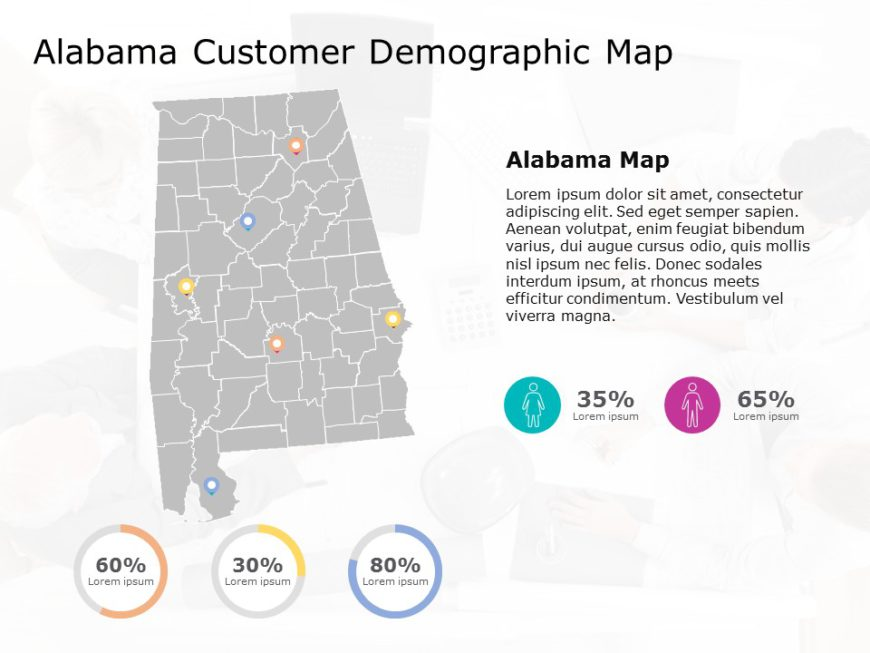 Alabama Map PowerPoint Template 2