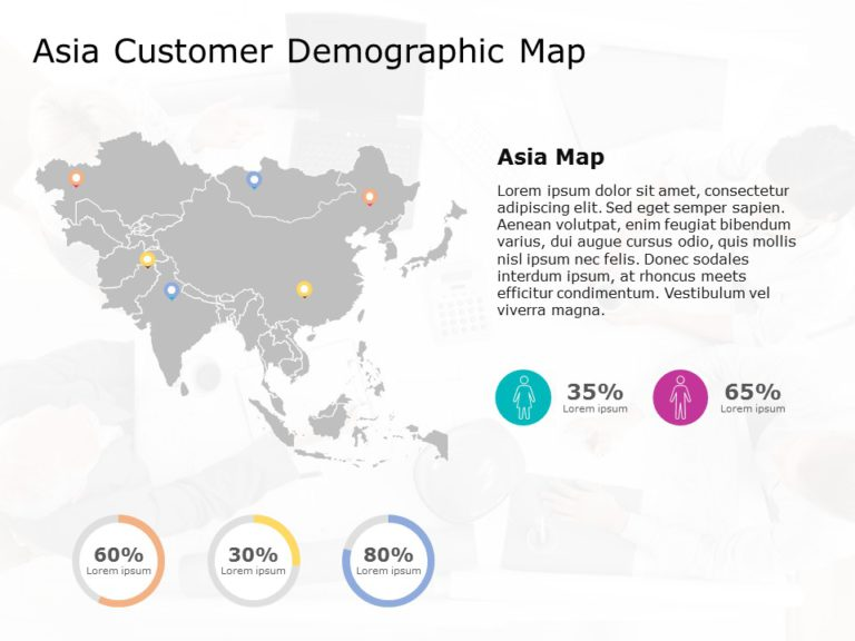 Asia Map PowerPoint Template 8