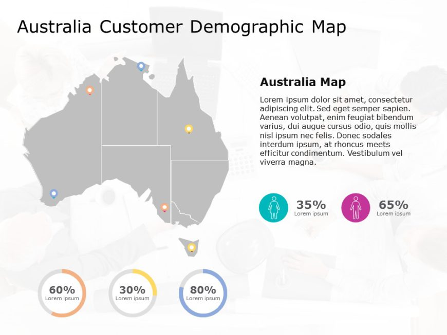 Australia Map PowerPoint Template 10