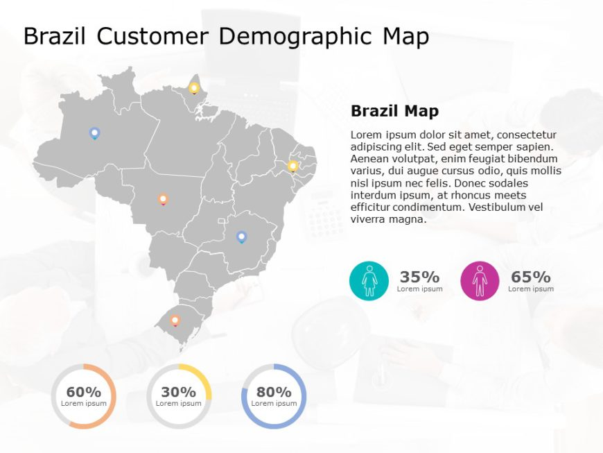 Brazil Map PowerPoint Template 8
