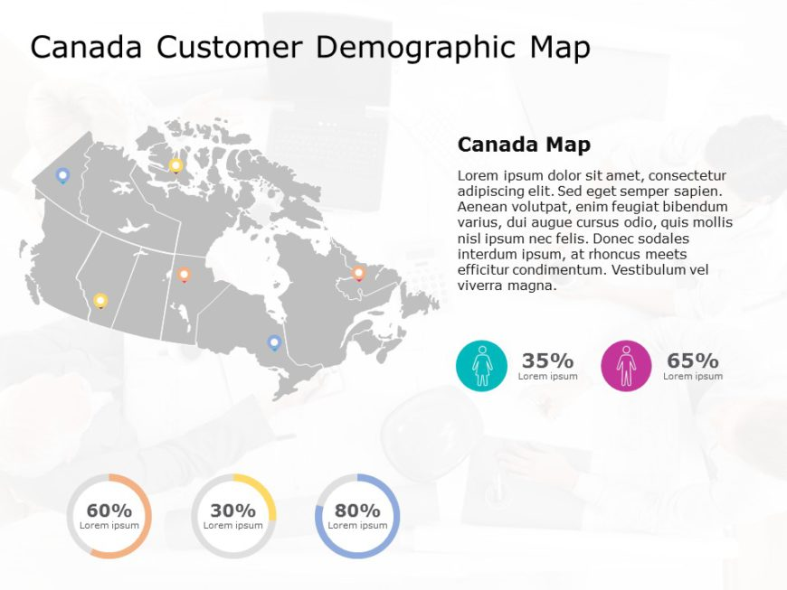 Canada Map PowerPoint Template 8