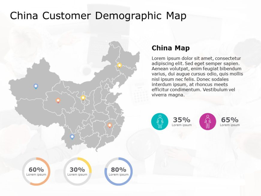 China map powerpoint template 7